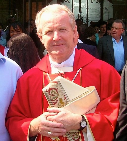 Bishop Kieran Conry during a confirmation event at St. Joseph's Catholic Church in Epsom, Surrey in 2007.