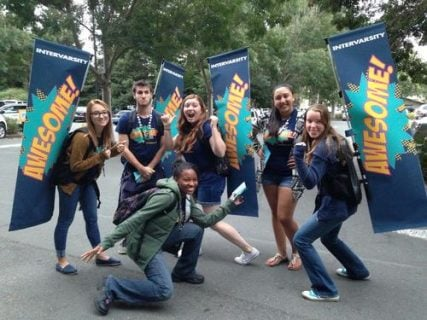 A group of student involved with InterVarsity Christian Fellowship, an evangelical Christian group with 860 chapters in the United States. Photo courtesy of Sonoma State Star
