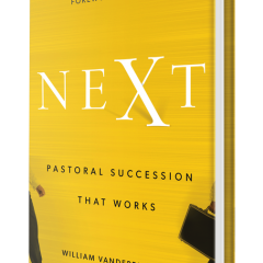 """""""Next: Pastoral Succession That Works,"""" book cover photo courtesy of Baker Books Publishing."""