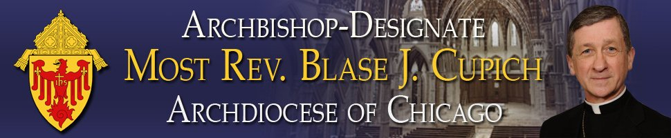 Banner on website of the Archdiocese of Chicago