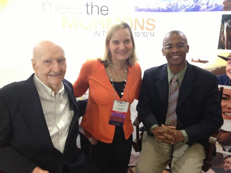 """Me with the """"Candy Bomber,"""" Gail Halvorsen, and """"The Bishop"""" (now a stake prez), Jermaine Sullivan, at RNA in Atlanta."""
