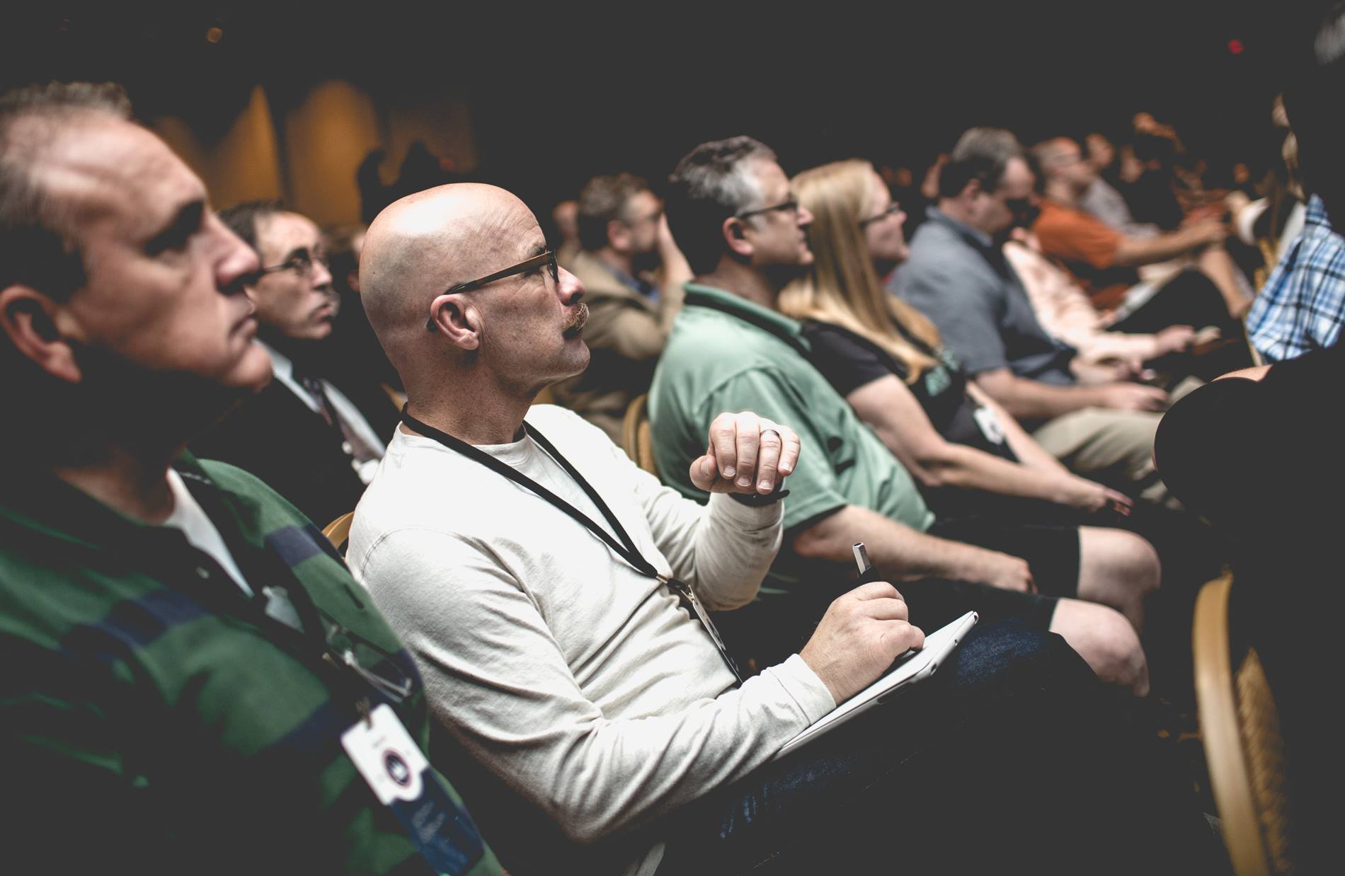 Attendees listen to a speaker during the 2014 ERLC National Conference.