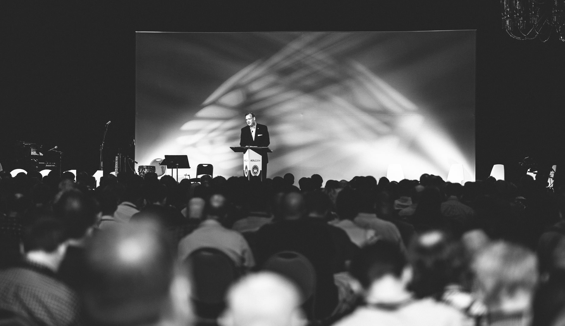 Albert Mohler speaks to attendees during the 2014 ERLC National Conference on the gospel, homosexuality, and the future of marriage.