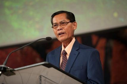 Alberto Gulfan is president of the Southern Asia-Pacific Division. He addressed Annual Council delegates during the Council on Evangelism and Witness, Friday, October 10.