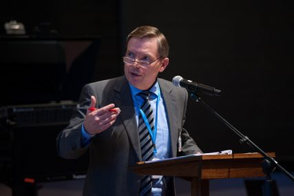 Artur Stele is a vice president and director of the Biblical Research Institute, speaks during the 2014 Annual Council on Oct. 12, 2014.