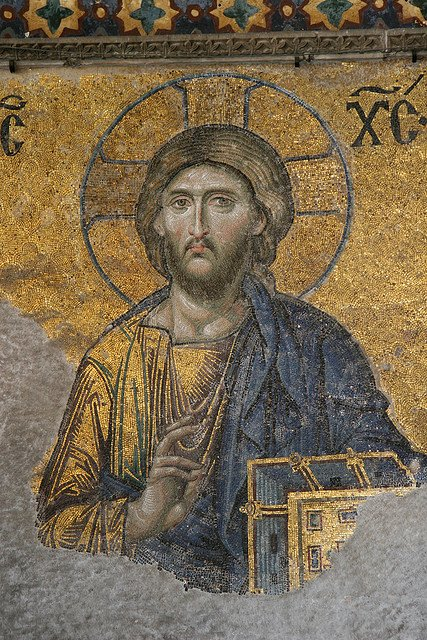 A mosaic of Jesus found in Istanbul.
