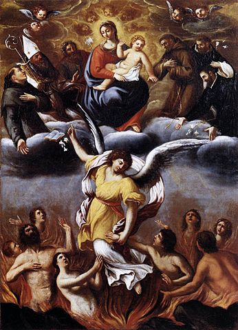 """Purgatory"" by Ludovico Carracci."