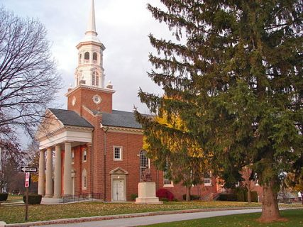 The chapel at Lutheran Theological Seminary on Seminary Ridge, Lutheran Theological Seminary campus in Gettysburg, Pennsylvania.