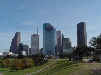 Downtown Houston (via Wikimedia Commons: http://bit.ly/1CiWgdg)