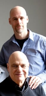 Tony Campolo, front, with son Bart Campolo. Photo courtesy of Bart Campolo