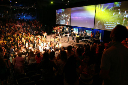 Hillsong Church service - courtesy of Kristofer Palmvik via Flickr  (http://goo.gl/ZUGOnz)