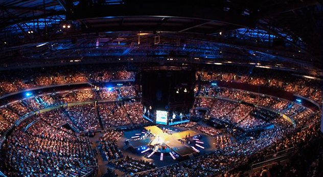 Australia's Hillsong Church has locations around the world with tens of thousands in weekly attendance.  - Image courtesy of Michael Chan (http://bit.ly/1tywEdv)