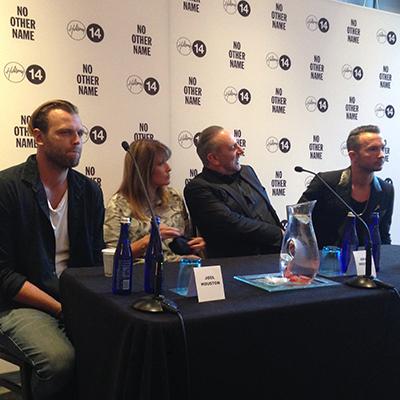 (From left: Joel Houston, Bobbie Houston, Brian Houston, Carl Lentz) - Image courtesy of Jonathan Merritt