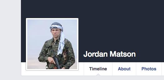 Screenshot from Jordon Matson's facebook page.