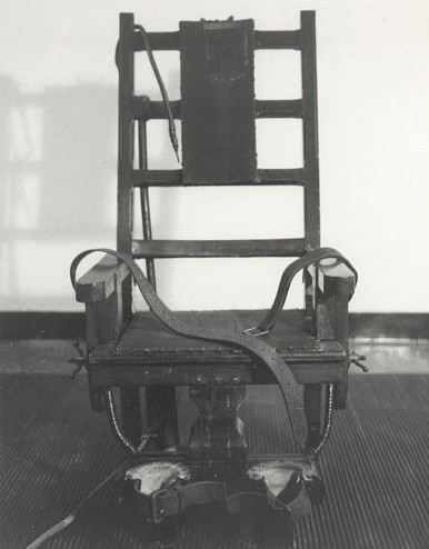 Electric chair used at Sing Sing prison