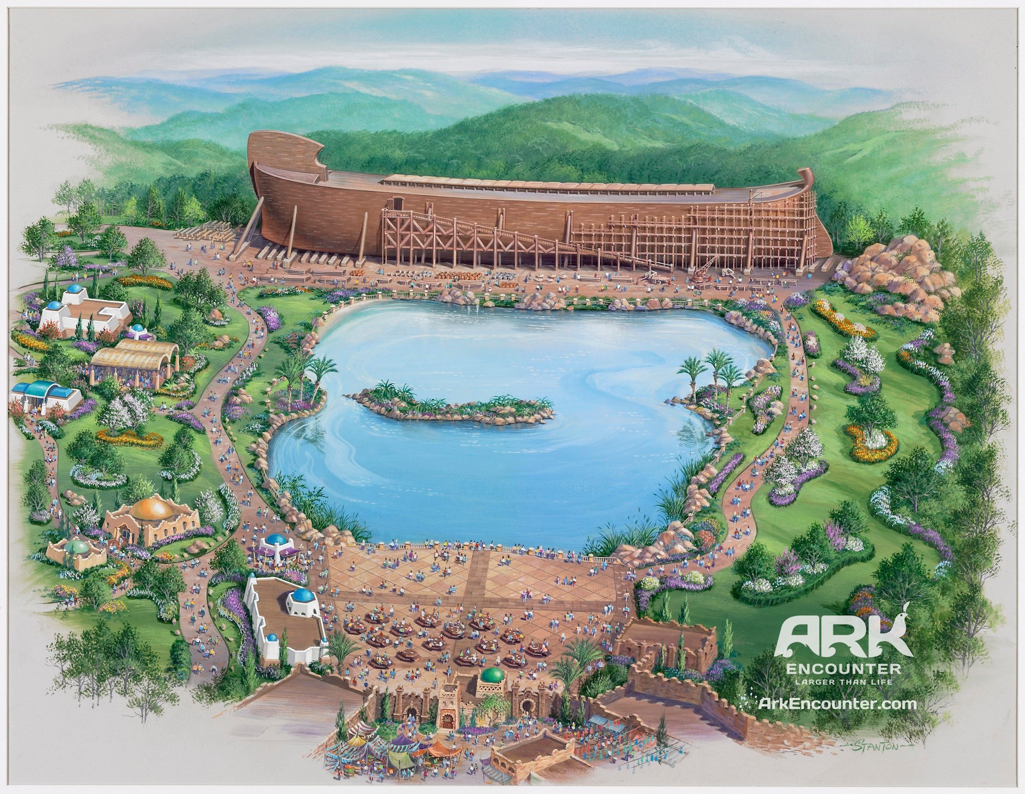 The proposed Ark Encounter theme park in Petersburg, Ky. Photo courtesy Ark Encounter/A Larry Ross Communications.