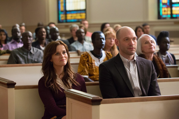 "Actors Reese Witherspoon and Corey Stoll in a scene from ""Good Lie."" Photo courtesy of Alcon Entertainment"