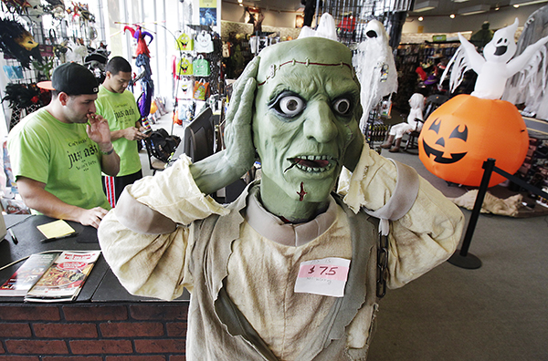 This Halloween Express store on Rt. 18 in East Brunswick is one the Halloween stores that pop-up in strip malls for 2 months and then disappear. Photo by Tim Farrell/The Star-Ledger