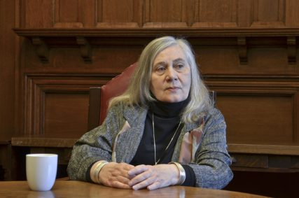 Pulitzer-prize winning author Marilynne Robinson spoke at Union Seminary in March, 2014. Photo by Kristen Scharold