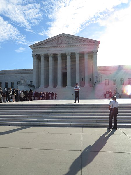 A view of the Supreme Court on Oct. 7, 2014. Religion News Service photo by Lauren Markoe