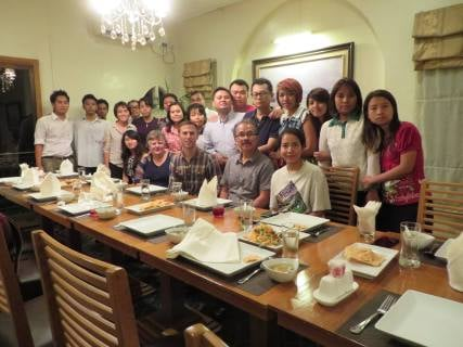 Farewell dinner at Le Nacha Restaurant in Yangon.