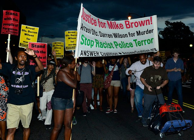 Washington, D.C., March for Mike Brown   Photo by Stephen Melkisethian via Flickr (http://tinyurl.com/pfe3283)