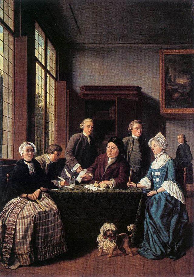 The Marriage Contract by Flemish artist Jan Josef Horemans c. 1768