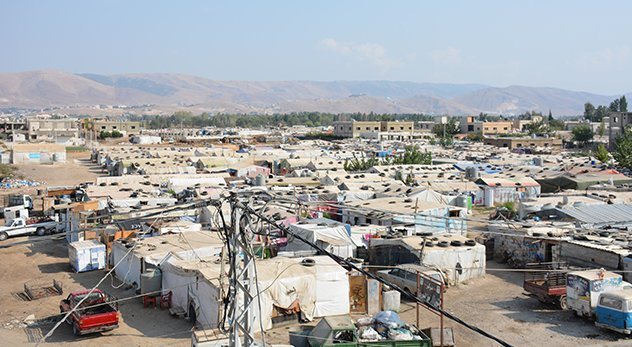 An Informal Tented Settlement in the Bekaa Valley Region of Lebanon. - Photo Credit: Johnny Cruz