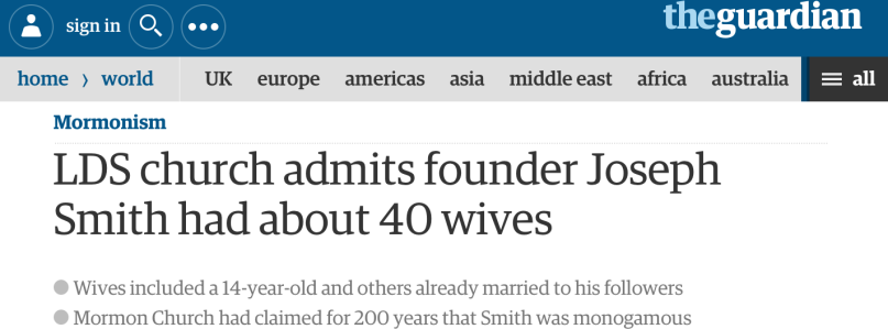 The Guardian polygamy headline