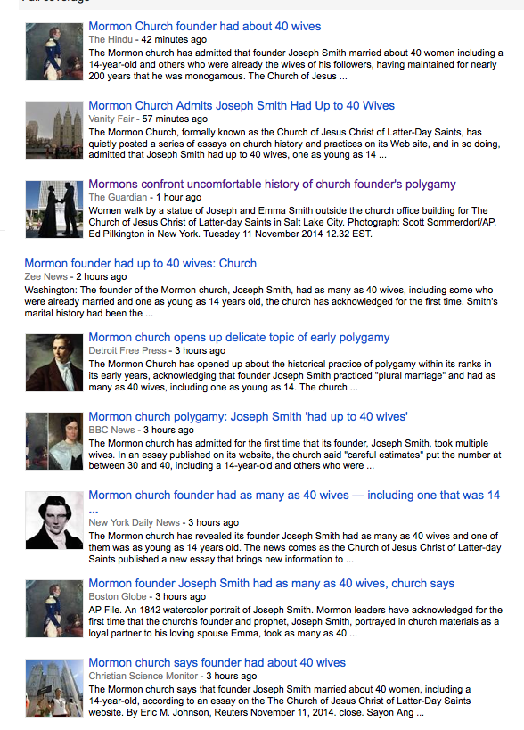 No Man Is An Island Essay On Monday The New York Times Presented An Indepth Feature Story On The  Subject With The Headline Its Official Mormon Founder Had Up To   Wives Essay On Invention also Civil Right Movement Essay Mormon Polygamy Explodes In The News Why Now  Religion News Service Help With Essay