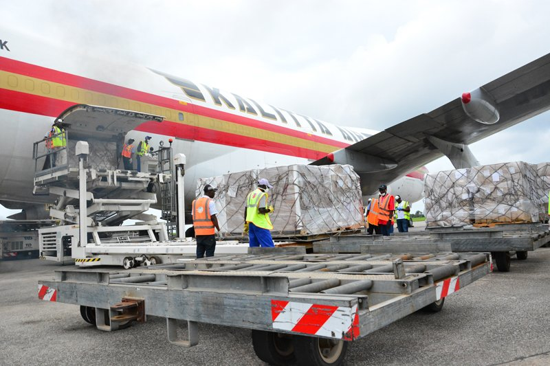 Urgently-needed personal protective equipment from World Vision's first shipment of supplies arrives in Sierra Leone. Photo courtesy of World Vision