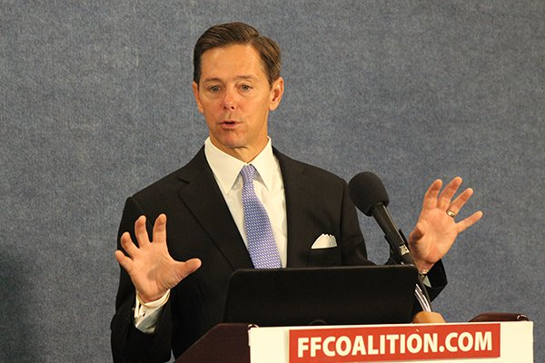 Ralph Reed, founder and chairman of the Faith & Freedom Coalition, speaks Nov. 5, 2014 at the National Press Club. Religion News Service photo by Adelle M. Banks
