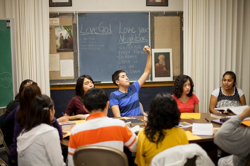 Mormon youth ages 14 to 18 attend seminary to study the gospel of Jesus Christ. Photo courtesy of the Church of Jesus Christ of Latter-day Saints