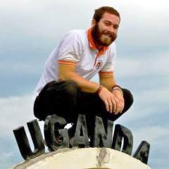 Humanist Service Corps founder Conor Robinson in Uganda. Photo courtesy Conor Robinson.