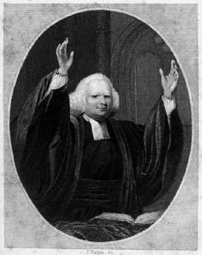 George Whitefield preaching, circa 1857.