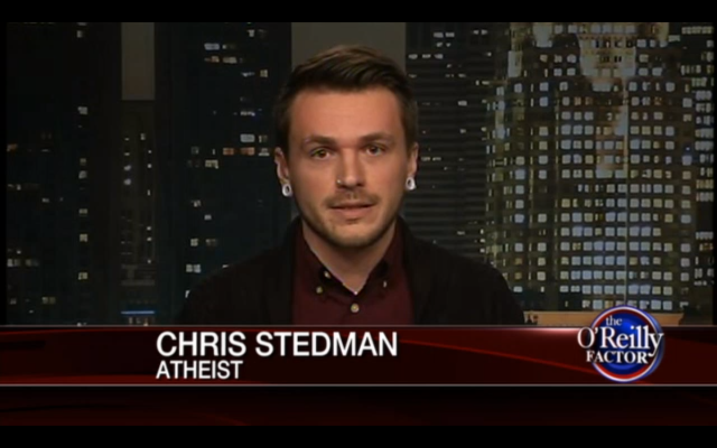 from a 2013 appearance on the oreilly factor image via youtube - The War On Christmas