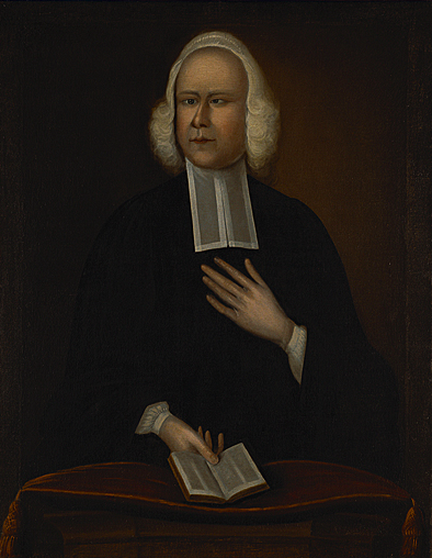 Portrait of George Whitefield, attributed to Joseph Badger, circa 1750s.