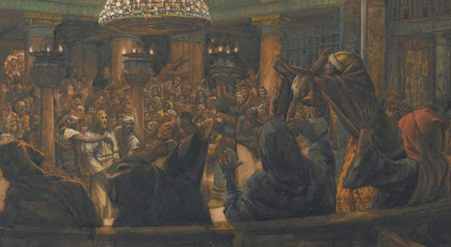 """The Torn Cloak--Jesus Condemned to Death by the Jews"" by James Tissot is part of a rich tradition of Christian art furthering the idea that the Jews murdered Jesus. It is housed at the Brooklyn Museum in New York. - Courtesy of Wikimedia Commons (http://bit.ly/1wwuciC)"
