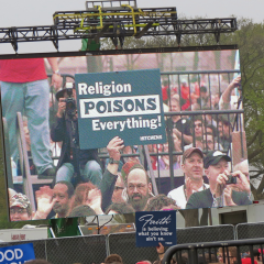 Sign from the 2012 Reason Rally. Photo by Brad Pennock via Flickr Commons.