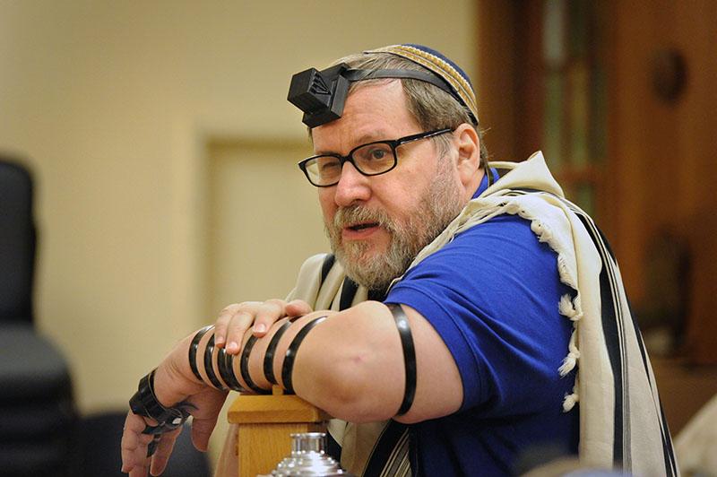 Rabbi Barry Freundel during morning prayers at Kesher Israel in Washington D.C., on Sept. 10, 2014. Photo by Lloyd Wolf