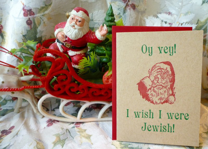 """Oy Vey!"" card, photo by Kimberly Winston."