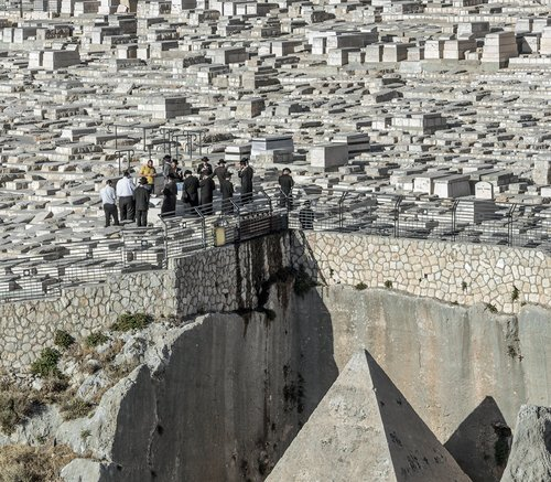 Tomb Of Zechariah in an ancient Jewish Cemetery in Jerusalem on May 26, 2013.