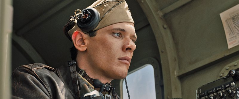 "Actor Jack O'Connell as WWII Vet Louis Zamperini, in a scene from Angelina Jolie's highly anticipated film ""Unbroken."" Photo courtesy of Universal"