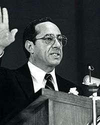 Mario Cuomo giving a speech in 1987