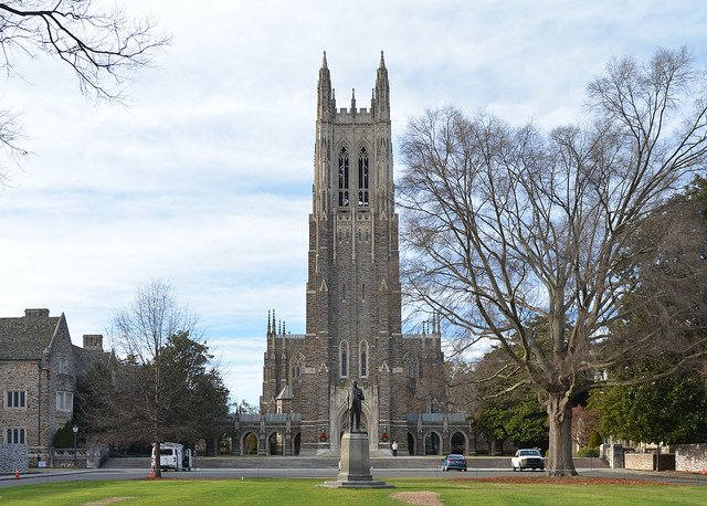 Duke Chapel sits at the heart of the Gothic-style campus in Durham, N.C. Photo courtesy Erini Barker/Flickr.