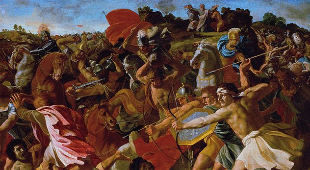 "Photo: ""The Victory of Joshua over the Amalekites"" by Nicolas Poussin (c. 1624) / Courtesy of Wikimedia Commons"
