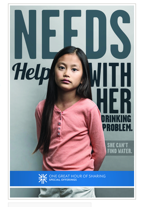 Screenshot of an ad campaign photo created by The Presbyterian Church (USA), which was scrapped after it was blasted for being culturally and socially insensitive.