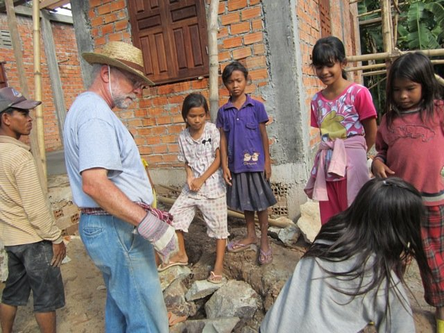 Rabbi Joel Soffin helps to build a library in Cambodia in Oct. 2012. Photo courtesy of Joel and Sandra Soffin