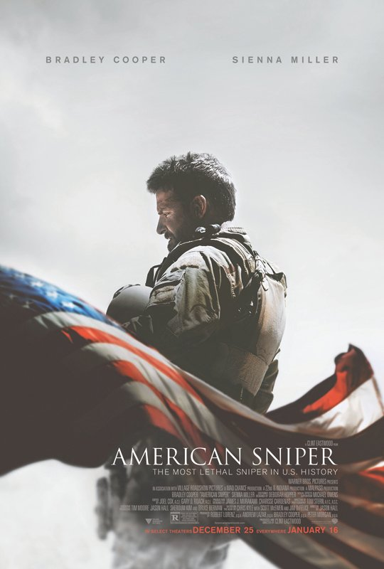 """American Sniper"" movie poster. Photo courtesy of Warner Bros. Pictures"