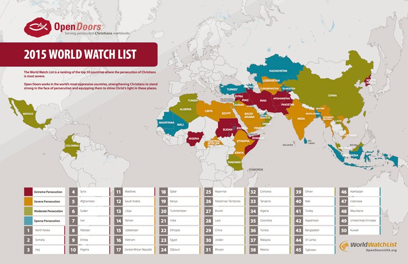 Persecution of Christians reached historic levels in 2014 ... | 800 x 518 jpeg 73kB
